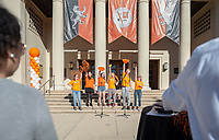 O-Team<br /> Explore Occidental - Fall Preview Day, Friday, November 9, 2018.<br /> Fall open house to give prospective students and their families the opportunity to explore Occidental with tours of campus, student and faculty-led discussions, the ability to sit in on a class, and to learn what it means to be an Oxy Tiger.<br /> (Photo by Marc Campos, Occidental College Photographer)