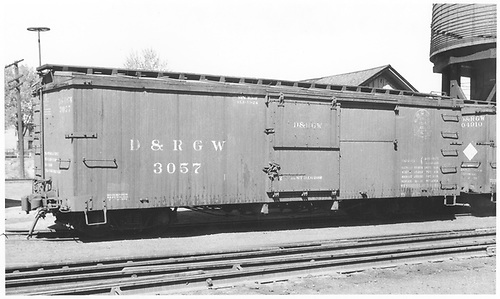 Box car #3057<br /> D&amp;RGW    ca 1934