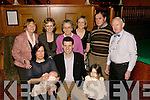 NEW ARRIVAL: John and Linda Creagh, Ballymac Bar, Tralee (seated centre), celebrated the christening of their first baby, Daniel, in their own bar on Saturday evening in the company of their parents and family.   Copyright Kerry's Eye 2008