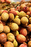 MAURITIUS, Flacq, the largest open air market in Mauritius, Flacq Market, Lychee fruit for sale