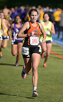 Nov 14, 2015; Claremont, CA, USA; Aria Blumm of Occidental runs in the womens race during the 2015 NCAA Division III West Regionals cross country championships at Pomona-Pitzer College. (Freelance photo by Kirby Lee)