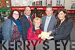 Garveys Kerry's Eye Competition Winner in Garveys on Wednesday  Mairead McNamara, Brendan Kennelly (Marketing Manager Kerry's Eye) Philomena Counihan (Winner) Kevin McCarthy (Garveys SuperValu) Sandra Lynch (Manager Garveys, SuperValu  Rock St Tralee)