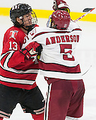 Jared Wilson (RPI - 13), Clay Anderson (Harvard - 5) - The Harvard University Crimson defeated the visiting Rensselaer Polytechnic Institute Engineers 5-2 in game 1 of their ECAC quarterfinal series on Friday, March 11, 2016, at Bright-Landry Hockey Center in Boston, Massachusetts.