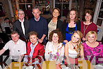 Celebrating fifteen years in business Staff of Mozarts and Annburys with dinner at The Stone house on Saturday pictured front l-r  Audrius Janusauskas, Lilian Holmes, Ann Leane, Una Nolan, Sheila Quinlan, Back l-r  Danny Leane, Dev Griffin, Siobhan Colbert,  Deborah Rennie and Audra Epper-Bartoszko