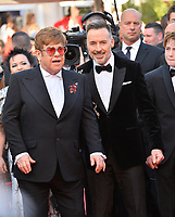 "CANNES, FRANCE. May 16, 2019: Sir Elton John & David Furnish at the gala premiere for ""Rocketman"" at the Festival de Cannes.<br /> Picture: Paul Smith / Featureflash"