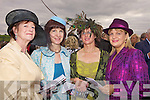 Maureen Culloty (Killarney), Aoife Hannon (Listowel), Margaret McCarthy (Killarney) and Angela Sheehan (Rathmore) all enjoying the atmosphere of Ladies Day at the Listowel Races last Friday