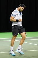 Rotterdam, Netherlands, 9 februari, 2019, Ahoy, Tennis, ABNAMROWTT, DENIS KUDLA (USA) Photo: Henk Koster/tennisimages.com
