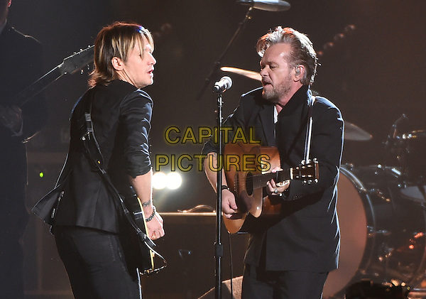 4 November 2015 - Nashville, Tennessee - Keith Urban, John Mellencamp. 49th CMA Awards, Country Music's Biggest Night, held at Bridgestone Arena. <br /> CAP/ADM/LF<br /> &copy;LF/ADM/Capital Pictures