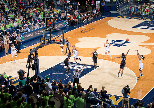 Jan. 26, 2013; Skylar Diggins (4) shoots a three point basket in the first half against the Providence...Photo by Matt Cashore/University of Notre Dame