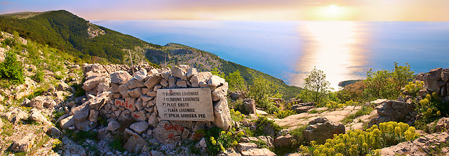 View from Lubenice hill top village, Cres Island, Croatia