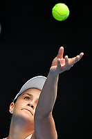 January 16, 2019: 15th seed Ashleigh Barty of Australia in action in the second round match against Yafan Wang from China on day three of the 2019 Australian Open Grand Slam tennis tournament in Melbourne, Australia. Barty won 62 63. Photo Sydney Low