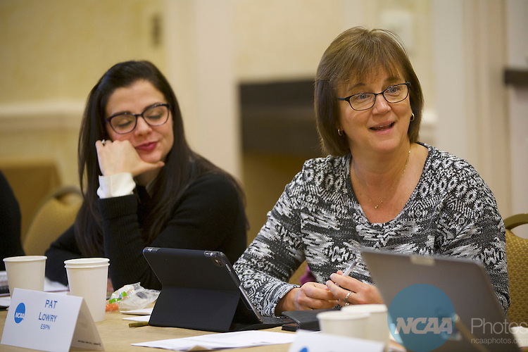 18 JAN 2017: The Division I Women's Basketball Committee meeting takes place during the 2017 NCAA Convention at the Gaylord Opryland Resort and Convention Center in Nashville, TN.  Jamie Schwaberow/NCAA Photos  (Pictured:  Pat Lowry)
