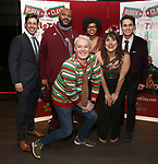 """Ken Arpino, Ruben Studdard, Clay Aiken, Khalia Wilcoxon, Farah Alvin and Julian Diaz-Granados attend the Opening Night After Party for """"Ruben & Clay's First Annual Christmas Show"""" on December 11, 2018 at The Copacabana Times Square in New York City."""