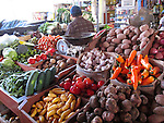 Farmers' Market, fruits and vegetables, produce, Nazca, Peru