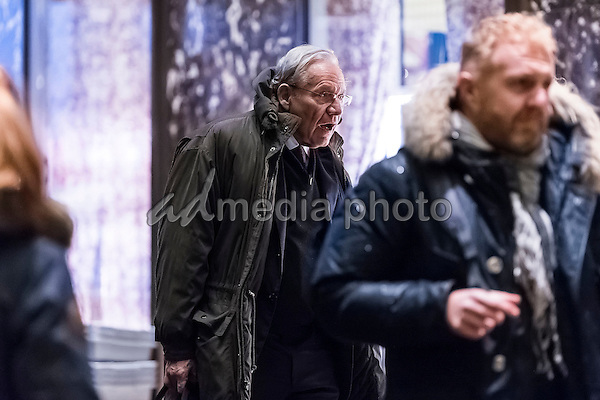 Journalist Bob Woodward is seen in the lobby of Trump Tower in New York, NY, USA on January 3, 2017. Photo Credit: Albin Lohr-Jones/CNP/AdMedia