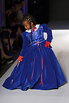 Model walks runway in an outfit from the Ashley Victorian Spring Summer 2020 runway show by Melanie Caballero, for The Society Fashion Week Spring Summer 2020 during New York Fashion Week, on September 7, 2019.
