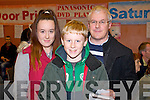 Anne, Michael and Elisha Dowling, pictured at St Johns bazaar, held in the KDYS on Saturday evening.