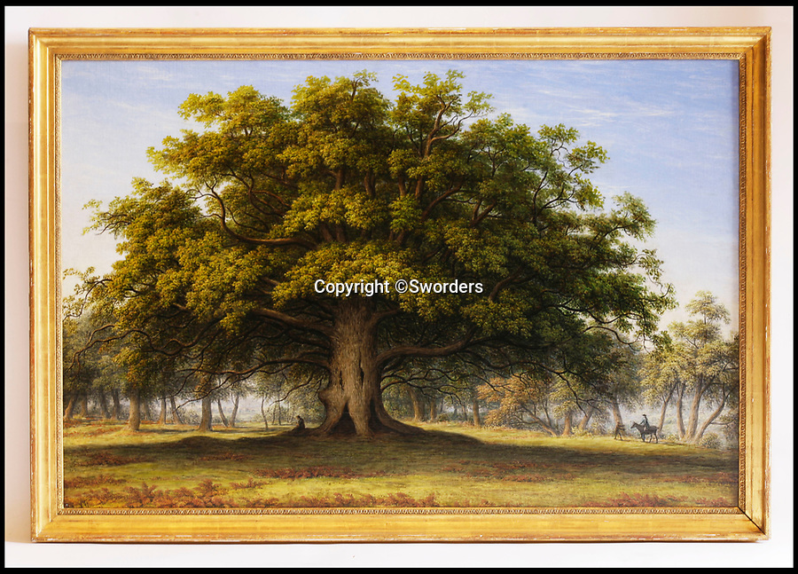 BNPS.co.uk (01202 558833)<br /> Pic: Sworders/BNPS<br /> <br /> 'The Beggars Oak' by John Glover est £30,000.<br /> <br /> The £1million contents of a majestic 16th century English country house including its eye-catching tapestries, paintings and antique furniture have emerged for sale.<br /> <br /> The jewel in the crown in the everything must go sale at North Mymms Park is a collection of 19 large European tapestries which are each valued at £20,000.<br /> <br /> The 12ft by 17ft tapestries were crafted in weaving workshops across northern Europe from the mid 16th to mid 18th century and have hung in the Grade I listed manor 'of exceptional interest' near Colney, Herts, for over 100 years. <br /> <br /> They were purchased by Anglo-American banker Walter Hayes Burns who acquired the estate in 1893 to accommodate his growing art collection and whose family owned it until 1979.