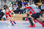 Mannheim, Germany, December 01: During the Bundesliga indoor women hockey match between Mannheimer HC and Nuernberger HTC on December 1, 2019 at Irma-Roechling-Halle in Mannheim, Germany. Final score 7-1. (Copyright Dirk Markgraf / 265-images.com) *** +m4+