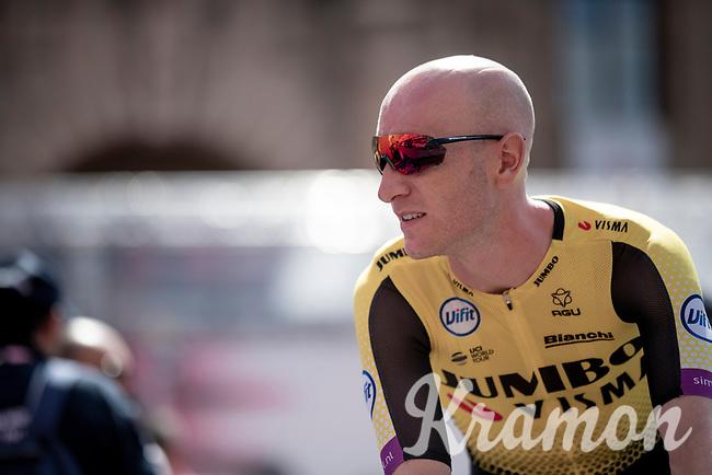 Jos Van Emden (NED/Jumbo-Visma) at sign-on<br /> <br /> Stage 11: Carpi to Novi Ligure (221km)<br /> 102nd Giro d'Italia 2019<br /> <br /> ©kramon