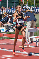 Florida State 4th-year junior and Nerinx Hall graduate Colleen Quigley crosses the finish line first to win the women's steeplechase final at the 2015 NCAA Division I Outdoor Track and Field Championships. Quigley finished the race in 9:29.32 to make her the third fastest collegian of all-time and put her in a tie as the 9th fastest American of all-time.