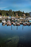 ALASKA, Ketchikan, fishing boats moored in the Behm Canal near Clarence Straight, Knudsen Cove along the Tongass Narrows