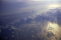 Sea & clouds from air