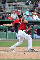 Boston Red Sox  Blake Tekotte (81) during a Spring Training game against the New York Mets on March 16, 2015 at JetBlue Park at Fenway South in Fort Myers, Florida.  Boston defeated New York 4-3.  (Mike Janes/Four Seam Images)