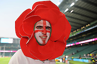 An England fan enjoying the pre-match atmosphere before Match 26 of the Rugby World Cup 2015 between England and Australia - 03/10/2015 - Twickenham Stadium, London<br /> Mandatory Credit: Rob Munro/Stewart Communications