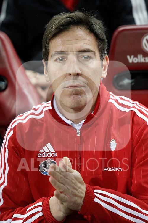 Celta de Vigo's coach Eduardo Berizzo during Spanish Kings Cup match. January 27,2016. (ALTERPHOTOS/Acero)