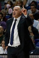 Pablo Laso Coach of Real Madrid Baloncesto 2014 November 30 Madrid Spain. ACB LIGA ENDESA 14/15, 9º Match, match played between Real Madrid Baloncesto vs CAI Zaragoza at Palacio de los deportes stadium.