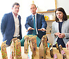 Tim Farron joins Vince Cable, Liberal Democrat Shadow Chancellor and candidate for Twickenham, on a visit to the HQ of Graze, one of the 100 fastest growing companies in the UK, <br /> <br /> The met Graze CEO Anthony Fletcher<br /> <br /> Tim Farron <br /> Sarah Olney MP <br /> <br /> <br /> <br /> Photograph by Elliott Franks <br /> Image licensed to Elliott Franks Photography Services