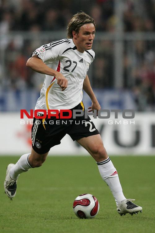 Qualifikation EM 2007 Gruppe: D - Deutschland (GER) vs. Tschechien (CZ). <br /> <br /> <br /> Einzelsituation Clemens Fritz (Deutschland #27).<br /> <br /> Foto &copy; nph (  nordphoto  )<br /> <br /> <br /> <br />  *** Local Caption ***