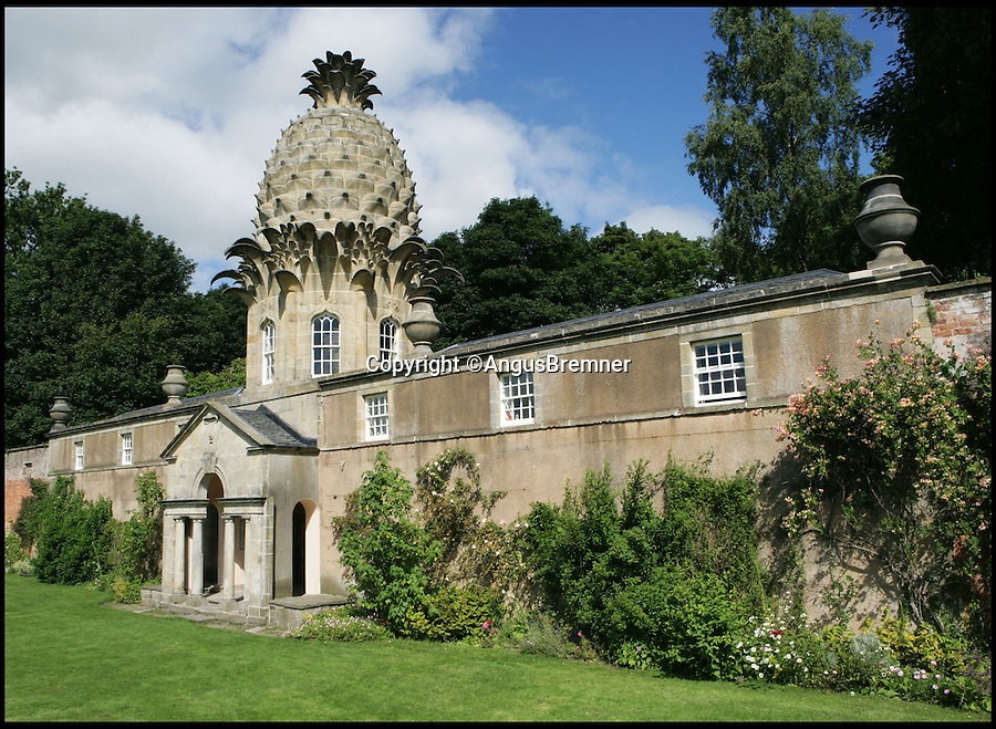 BNPS.co.uk (01202 558833)<br /> Pic: LandmarkTrust/BNPS<br /> <br /> The Pineapple, in, Dunmore, Scotland. <br /> <br /> Fully booked...Holidays less ordinary spark a booking frenzy in Brits.<br /> <br /> A charity which rents out historic buildings around Britain is celebrating a boom in business that has seen some of its properties booked out years in advance.<br /> <br /> The Landmark Trust has transformed almost 200 of the country's quirkiest buildings - from medieval castles to Tudor towers and even a former pig sty - into unique holiday homes.<br /> <br /> And they have become so popular with Brits looking for unusual places to escape to that some buildings are fully booked until 2016.<br /> <br /> Top of the most popular properties are Luttrell's Tower, a Georgian folly near Southampton, Hants, and Astley Castle, a Saxon stronghold dating back to the 12th century in Nuneaton, Warks.<br /> <br /> Other favourites include a Victorian pigsty near Whitby, North Yorks, which was built in the style of a Greek temple, and the London townhouse of 20th century poet John Betjeman.<br /> <br /> The buildings have become such a hit among holidaymakers that they are willing to fork out thousands of pounds to stay in them.<br /> <br /> While prices start at 10 pounds a night for cosy cottages in winter, a seven-night stay at the most popular properties in the height of summer can cost up to 3,000 pounds.<br /> <br /> But the fees are then ploughed back into the upkeep and restoration of the properties.
