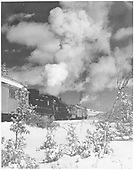 C&amp;TS rotary snowplow and her train with #487 as motive power east of Chama, headed for Cumbres Pass.<br /> C&amp;TS  e. of Chama, NM  Taken by Patton, Jesse M. - 1975