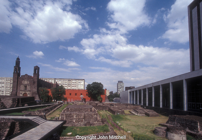 The Plaza de las Tres Culturas in Mexico City