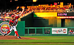 6 June 2009: Washington Nationals' pitcher John Lannan throws a complete-game 4-hitter against the New York Mets at Nationals Park in Washington, DC. The Nationals defeated the Mets 7-1, marking Lannan's first complete game of his career. Mandatory Credit: Ed Wolfstein Photo