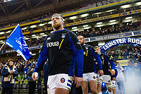 Henry Thomas and the rest of the Bath Rugby team walk onto the pitch. Heineken Champions Cup match, between Leinster Rugby and Bath Rugby on December 15, 2018 at the Aviva Stadium in Dublin, Republic of Ireland. Photo by: Patrick Khachfe / Onside Images