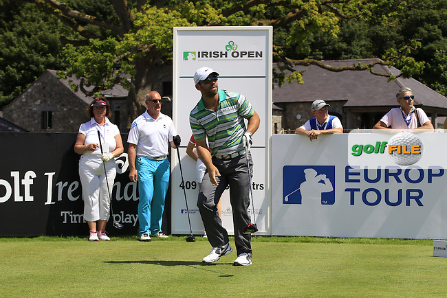 Defending Champion Paul Casey (ENG) during Wednesday's Pro-Am of the 2014 Irish Open held at Fota Island Resort, Cork, Ireland. 18th June 2014.<br /> Picture: Eoin Clarke www.golffile.ie