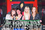 NIGHTMARE ON ROCK STREET: Scaring the people of Kerry at the Nightmare Realm at Castle Street, Tralee on Thursday l-r: Aoife Daly, Lewis Setterfield, Lucy Chung, Andrea O'Donoghue and Fiona Heneghan.