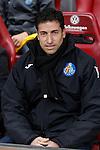 Getafe´s coach Pablo Franco during 2014-15 La Liga match at Vicente Calderon stadium in Madrid, Spain. March 21, 2015. (ALTERPHOTOS/Victor Blanco)