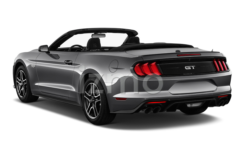 Car pictures of rear three quarter view of a 2020 Ford Mustang GT Premium 2 Door Convertible angular rear