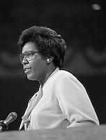 New York (NY) USA - July 12, 1976 - <br /> Keynote address by Representative Barbara Jordan, Democratic National Convention,