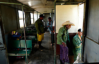SANTIAGO DE CUBA, CUBA - APRIL 9: Cuban passengers stand during a trip form Santiago de Cuba to Bayamo on April 9, 2018.. in Cuba. Ferrocarriles de Cuba, is one of the oldest railroad around world, having opened its first route in 1837 with at least 17-mile long. Now the railway probably could cover more than 2,600 miles along the Island. (Photo by Eliana Aponte/VIEWpress)