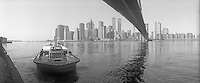 New York, NY - Circa 1985 - Manhattan viewed from Fulton Landing, Brooklyn