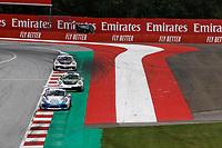 12th July 2020; Spielberg, Austria;  Porsche Mobil 1 Supercup race day;  20 Roar Lindland N, Pierre Martinet by Almeras, 12 Philipp Sager A, Dinamic Motorsport and 14 Mateo Llarena GT, MRS GT-Racing held at Spielberg Austria