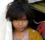 Following an October 8, 2005, earthquake, this girl lives in a tent city outside Balakot sponsored by Church World Service/Action by Churches Together.