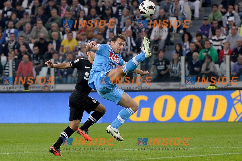 Hugo Campagnaro Napoli .Torino 20/10/2012 Juventus Stadium Torino.Football Calcio 2012/2013 Serie A.Juventus vs Napoli.Foto Federico Tardito Insidefoto.