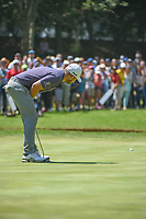 Tyrell Hatton (ENG) gives one last lean to help his birdie putt fall on 2 during round 4 of the World Golf Championships, Mexico, Club De Golf Chapultepec, Mexico City, Mexico. 3/4/2018.<br /> Picture: Golffile | Ken Murray<br /> <br /> <br /> All photo usage must carry mandatory copyright credit (&copy; Golffile | Ken Murray)
