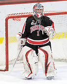Leah Sulyma (NU - 1) - The Harvard University Crimson defeated the Northeastern University Huskies 1-0 to win the 2010 Beanpot on Tuesday, February 9, 2010, at the Bright Hockey Center in Cambridge, Massachusetts.